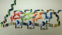 Impressive display of kinetic energy - Dominos & Objects