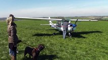 Cessna 150 forced landing in field  - short field take off. Jump to 4:30 for take off!