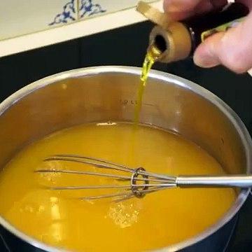 Cuisine rapide pour un granite à l'orange