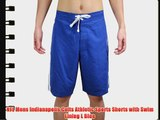 NFL Mens Indianapolis Colts Athletic Sports Shorts with Swim Lining L Blue