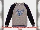 Petit Bateau Boys 1105741060 Sweatshirt Grey (Grey/Navy) 4 Years