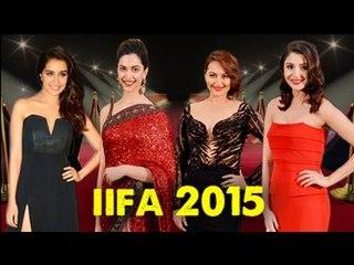 IIFA Awards 2015 : Deepika Padukone, Anushka Sharma SIZZLE the Red Carpet
