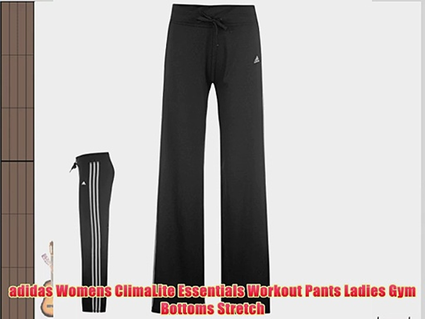 adidas Womens ClimaLite Essentials Workout Pants Ladies Gym Bottoms Stretch