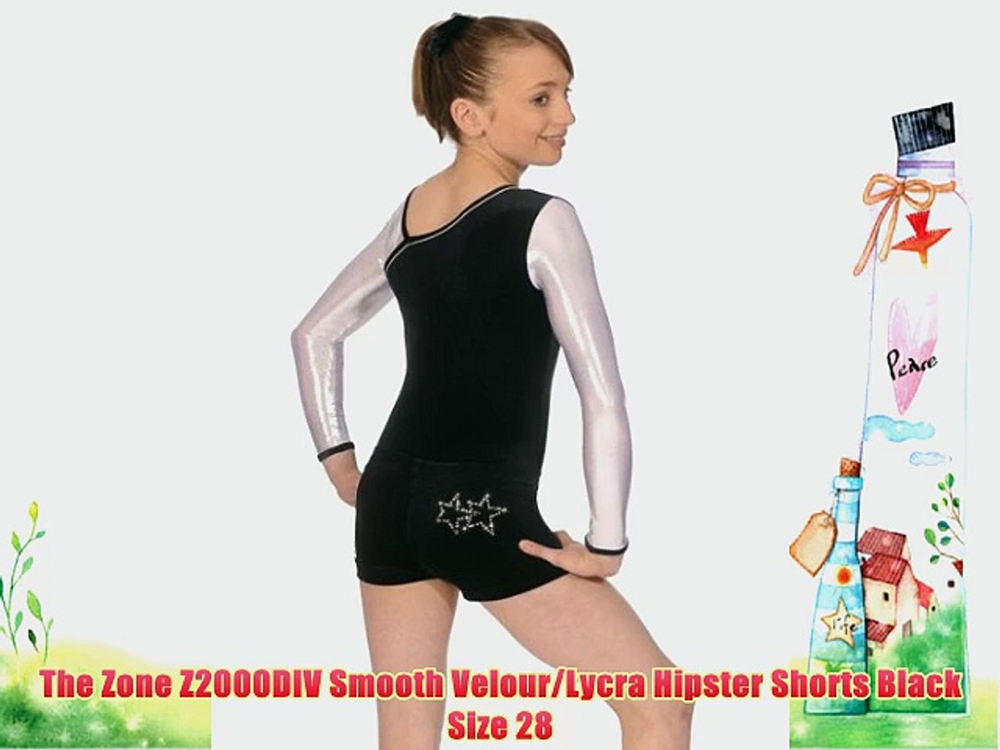 The Zone Z685SPA Long Sleeved Square Neck leotard Smooth Velour//Lycra