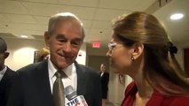 Ron Paul tells CBS cameraman to stop being rude & shoving people