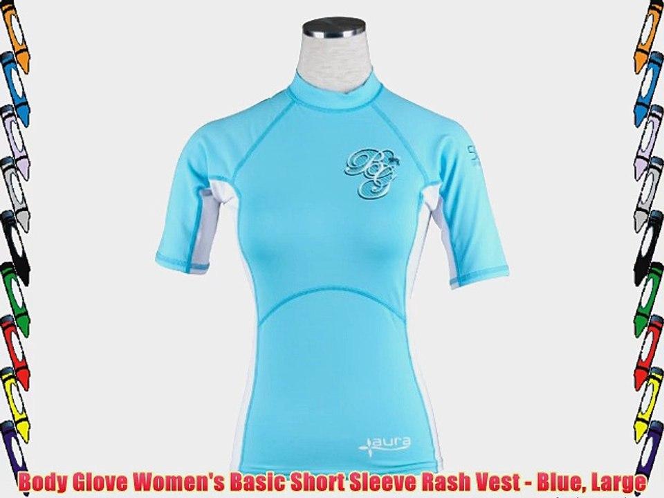 Ladies Bodyglove Short Sleeve Rash Vest Blue Large 14