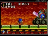 Sonic Advance 2 (GBA) - Hot Crater Boss, Sonic (6/15/09) (game over)