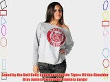 Saved by the Bell Kelly Kapowski Bayside Tigers Off the Shoulder Gray Juniors Sweatshirt (Juniors