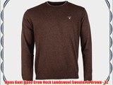 Mens Gant Mens Crew Neck Lambswool Sweater in Brown - XL