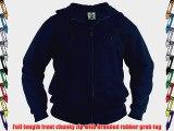 Mens Kingsize Hoodie Hooded Top Zipped Sweatshirt BLACK SIZE 6XL 62-64 CHEST