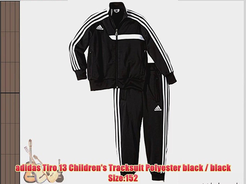 adidas Tiro 13 Children's Tracksuit Polyester black black Size:152