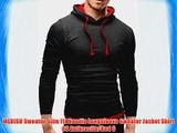 MERISH Sweater Slim Fit Hoodie Longsleeve Sweater Jacket Shirt 06 Anthracite/Red S