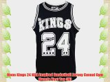 Mens Kings 24 NBA Inspired Basketball Jersey Casual Gym Muscle Vest Top (M)