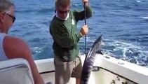 Deep Sea Sportfishing for Wahoo - Trolling in Antigua, Caribbean