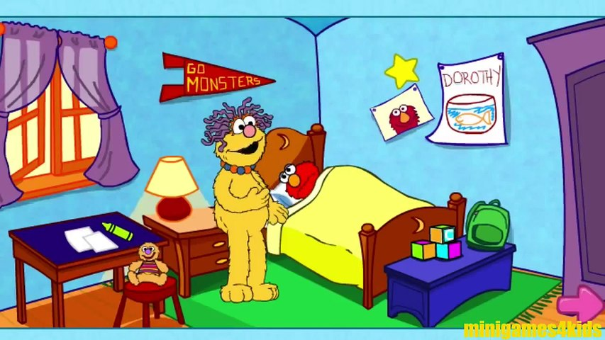 Elmo's First Day Of School Sesame Street Muppet Games PBS Kids And Family  Friendly Content