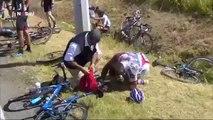 So impressive and massive fall during 2015 cyclism Tour de France