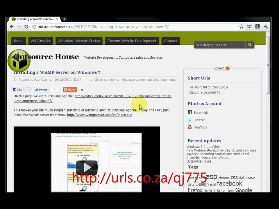 Setup WordPress on a WAMP server in Windows 7