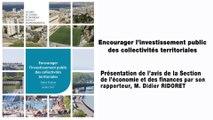 Encourager l'investissement public des collectivités territoriales - cese