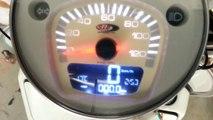 Montaggio contachilometri SIP su LML 2T.  Speedometer digital SIP Installation on LML 2T