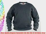 Mens Quality Kingsize Sweatshirt 2XL-6XL (4XL 54-56 Chest Grey)