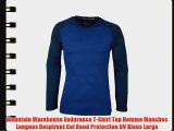 Mountain Warehouse Endurance T-Shirt Top Homme Manches Longues Respirant Col Rond Protection