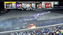 NASCAR Sprint Cup Daytona 2015 CZ 400 Dillon Huge Crash
