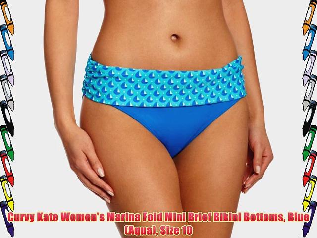 Curvy Kate Women's Marina Fold Mini Brief Bikini Bottoms Blue (Aqua) Size 10.  http://bit.ly/2m1pPEM