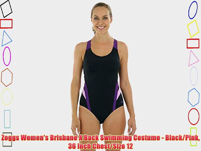 Zoggs Womens Ella Scoopback Swimming Costume
