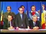 TVR 22 dec 1989: Brateş îl prezintă pe lt-col Oană, comandantul apărării TVR