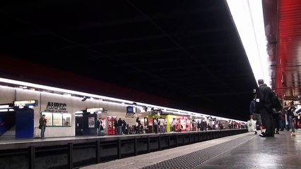 RER A observation at Auber (MS61, MI84 & MI2N trains)