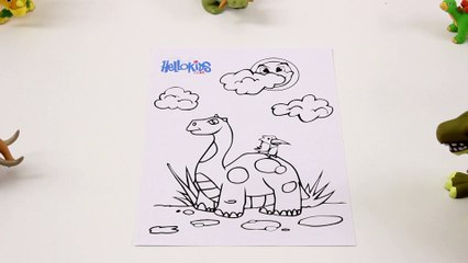 Bande von Dinosauriern