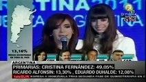 Emotivo discurso de Fernández tras vencer en primarias