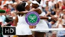 Serena Williams vs Venus Williams Wimbledon 2015 4th round highlights HD