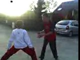 Jonathan vs romain. Combat de lutte
