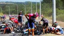 20 Riders Pile up in Massive Tour de France Crash