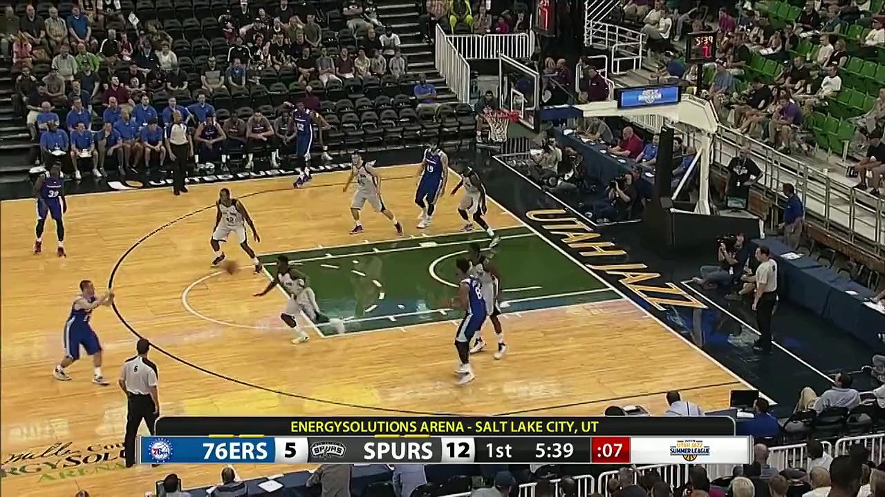 Jahlil Okafor Scores First NBA Basket!
