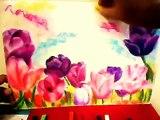 Clases de Dibujo y  Pintura flores con tiza pastel Cursos Talleres  2012. Lima Perú
