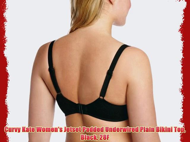 Curvy Kate Women's Jetset Padded Underwired Plain Bikini Top Black 28F. http://bit.ly/2m1pPEM