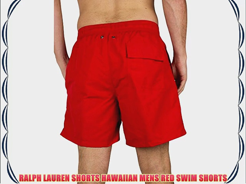 3d07bb61 RALPH LAUREN SHORTS HAWAIIAN MENS RED SWIM SHORTS