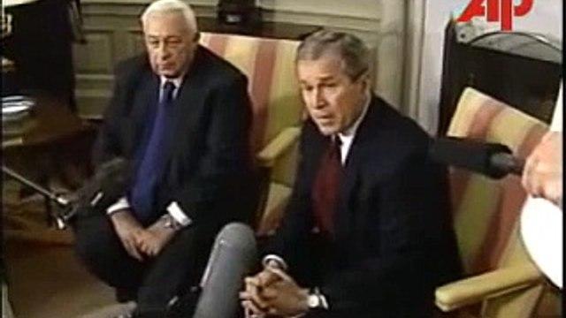 George Bush Meets Israeli PM Ariel Sharon To Discuss Terrorism (March 20, 2001)