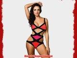 Stylla Celeb Inspired Bandage Bikini Set Monokini Beachwear Swimwear (UK 10 Black