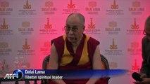 Dalai Lama in Mexico, decries violence