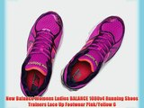 New Balance Womens Ladies BALANCE 1080v4 Running Shoes Trainers Lace Up Footwear Pink/Yellow