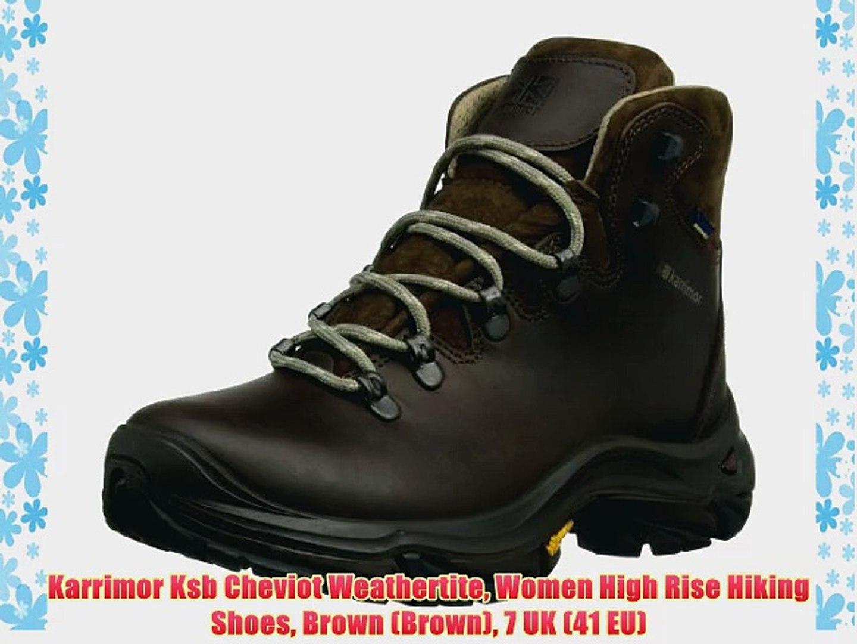 b5b48977402 Karrimor Ksb Cheviot Weathertite Women High Rise Hiking Shoes Brown (Brown)  7 UK (41 EU)