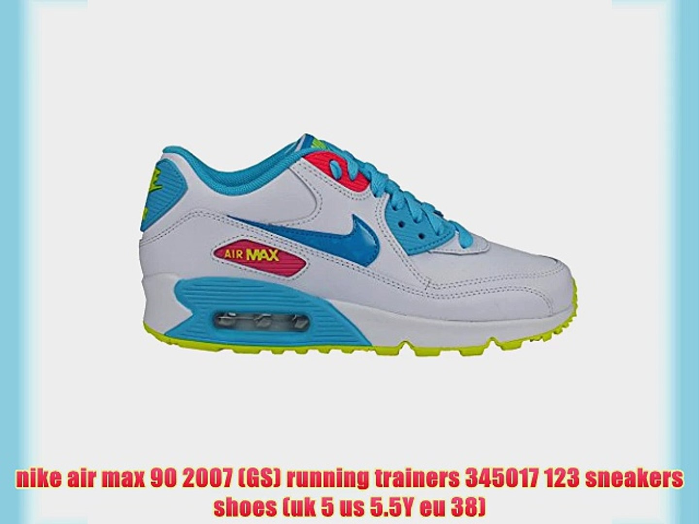 nike air max 90 2007 (GS) running trainers 345017 123 sneakers shoes (uk 5 us 5.5Y eu 38)