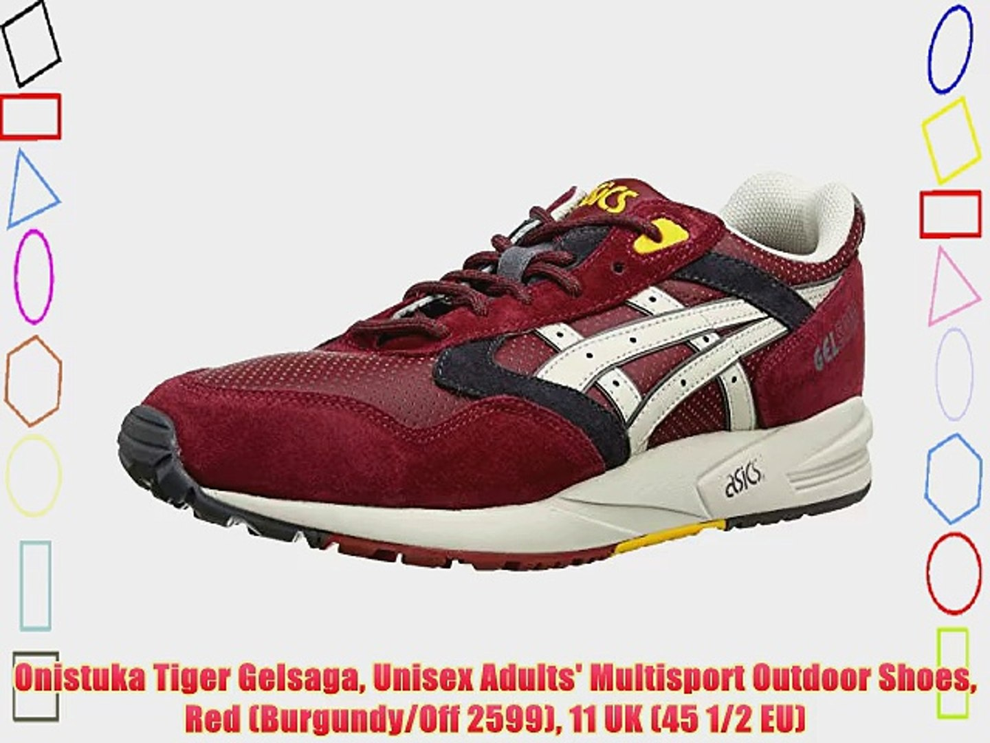 Onistuka Tiger Gelsaga Unisex Adults' Multisport Outdoor Shoes Red (Burgundy/Off 2599) 11 UK