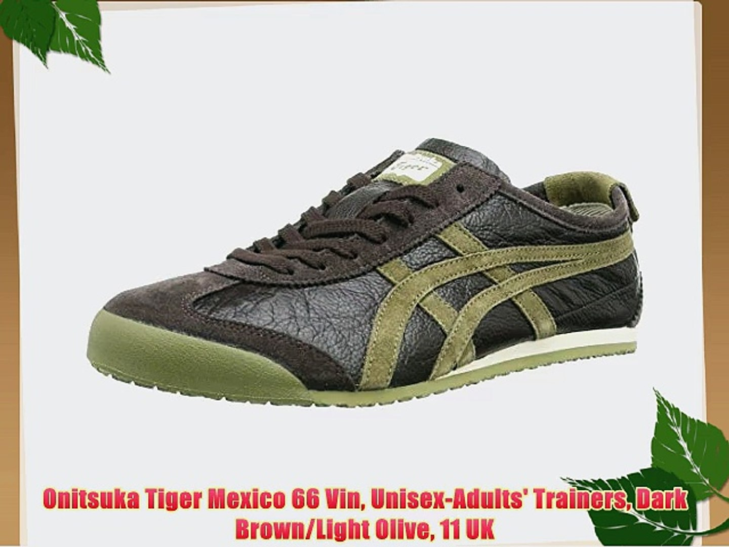buy online f42b0 cf25f Onitsuka Tiger Mexico 66 Vin Unisex-Adults' Trainers Dark Brown/Light Olive  11 UK