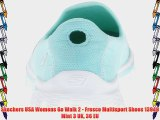 Skechers USA Womens Go Walk 2 - Fresco Multisport Shoes 13949 Mint 3 UK 36 EU