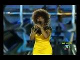 Abertura com o Hino Nacional na voz de Elza Soares Pan 2007