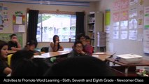 Activities to Promote Word Learning (Sixth, Seventh, and Eighth Grades: Newcomer Class)